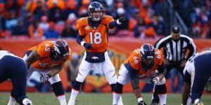 Manning is always controlling the line of scrimmage