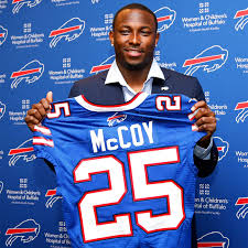 LeSean 'Shady' McCoy with his new jersey.