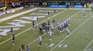 Controversy riddled the ending to the Hawaii-Colorado match.