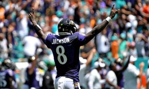 USP NFL: BALTIMORE RAVENS AT MIAMI DOLPHINS S FBN MIA BAL USA FL